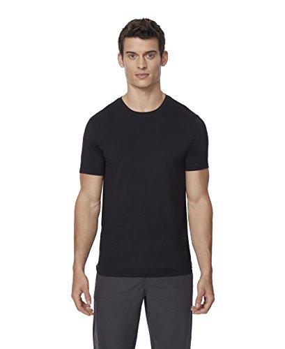 - Mens 2pack Short Sleeve Crew Neck Wicking Tee, Black, XLarge
