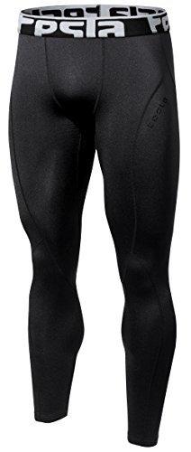 (TSLA TM-YUP33-BLK_X-Large Men's Thermal Wintergear Compression Baselayer Pants Leggings Tights)