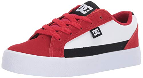 DC Boys' LYNNFIELD Sneaker, RED/Black/White, 4 M M US Big Kid