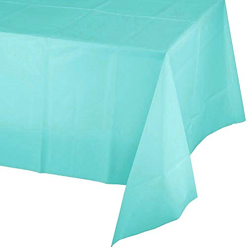 5 Pack Premium Disposable Plastic Tablecloth 54 Inch. x 108 Inch. Rectangle Table Cover Party Weddings Events Celebration -