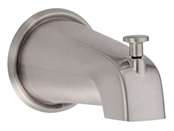 danze d606425bn wall mount tub spout with diverter 8inch brushed nickel