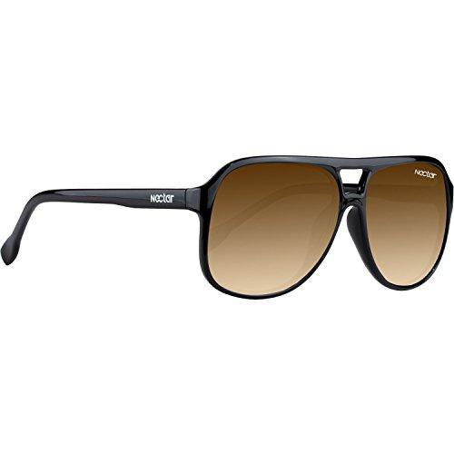 Nectar Aviator Plastic Venice Black / Amber - Venice Eyewear
