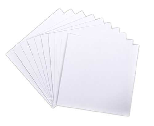 Darice Core'dinations Canvas Textured Cardstock, 12 by 12-Inch/80-Pound, White, (Canvas Textured Cardstock Paper)
