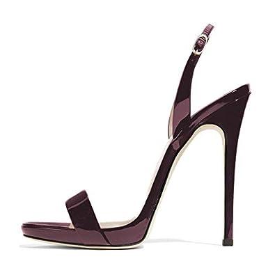 cb689df315a FSJ Women Sexy High Heel Stiletto Sandals Ankle Strap Slingback Open Toe  Evening Shoes Size 4-15 US