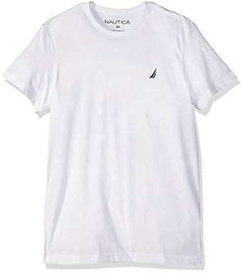 NAUTICA Erkek Kısa Kollu T-shirt, Beyaz, L Beden