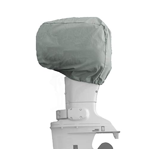 Universal Outboard Motor Cover/UV and Mildew Resistant / 100% Marine-Grade Polyester/Fits 2.5 HP - 350 HP (Heze Gray, 40-70 HP -25Lx18Hx15W) (Motor Cover Carver Universal)