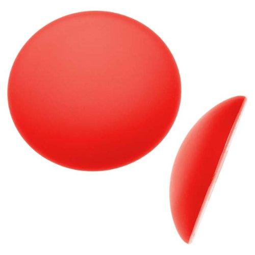 Beadsmith Lunasoft Glowing Lucite Cabochon 24mm Round - Matte Cherry Red (1)