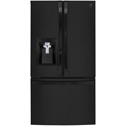 Kenmore Elite 74039 29.6 cu. ft. French Door Bottom Freezer Refrigerator with Grab-N-Go Door in Black, includes delivery and hookup (Available in select cities - Black Door Bottom Freezer French