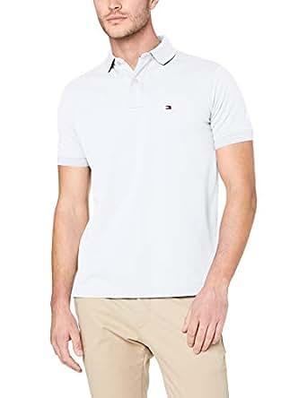 TOMMY HILFIGER Men's Regular Fit Polo, Bright White, Medium