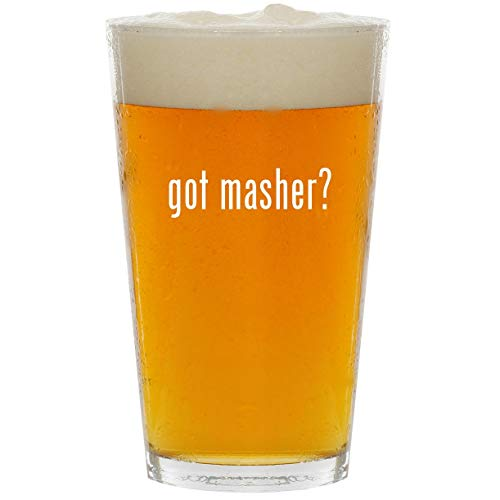 (got masher? - Glass 16oz Beer Pint)