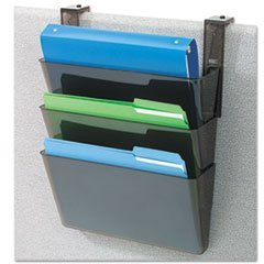 Docupocket Three-Pocket Partition Set, Plastic, Letter, 13 X 4 X 7, Black By: deflect-o