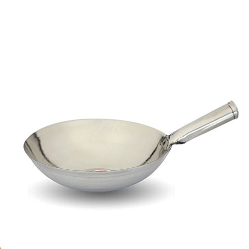 preeyawadee Wok 32 cmステンレススチールWok Pan Cooking Wok調理器具   B078YCRPPS