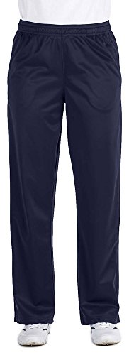 Harriton Mens Tricot Track (Harriton Ladies Tricot Track Pants, XL, NAVY)