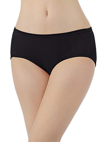 Vanity Fair Women's Plus Size Illumination Hipster Panty 18107, Midnight Black, Small/5