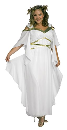 [Rubies Womens Roman Goddess White Theme Party Fancy Dress Halloween Costume, Plus (16-20)] (Cheap Roman Costumes)
