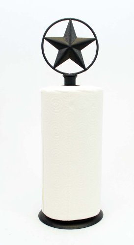 Texas Star Paper Towel Holder-17.5h Texas Irons Star