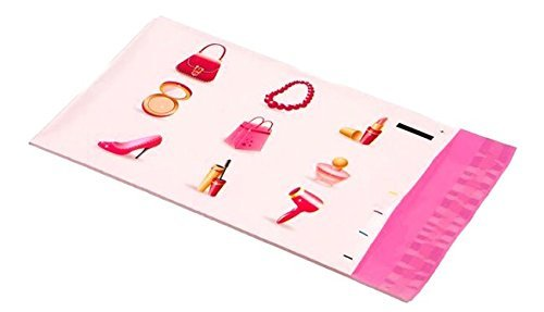 6x9 Make Up (Purse, Bracelet, Lipstick, Compact, Perfume, Heel, Mascara, Hair Dryer, Shopping Bag) Designer Poly Mailers Shipping Envelopes 25 Pack