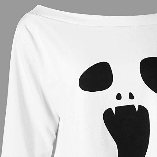Shirt Chemise fant Sweat Longues Manche Longue imprim Blanc Femme Femme Trydoit Manches me pour cS5Wpw
