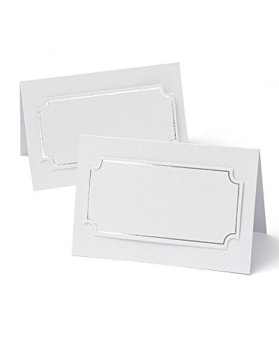 Silver Foil Place Cards -