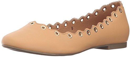 Athena Alexander Womens Tessye Leather Round Toe Ballet, Cognac1035858, Size 5.5