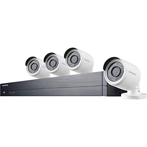 Samsung Wisenet SDH-B74043D 8 Channel 1080p Full HD 1TB Security System with 4 Dome Camera (SDC-9443D) (Renewed)