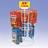 New 12-Peg Counter Key Chain Spinner White Display Rack Great For Key Chains