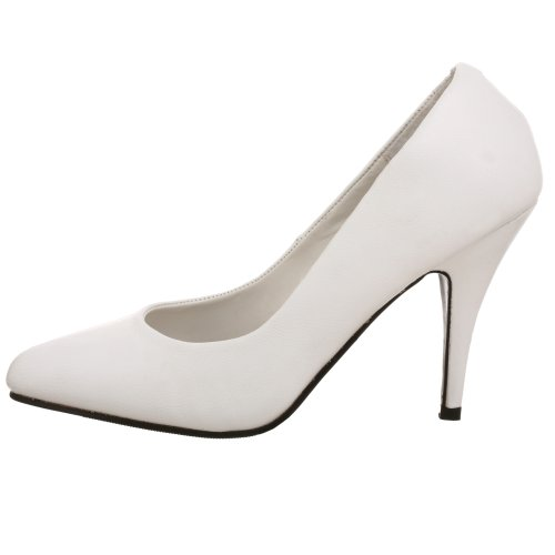 White Leather Vanity Women's Pleaser Pump nZWR66S