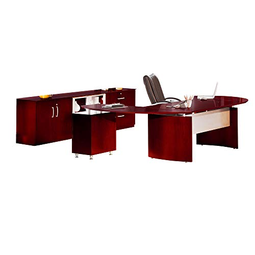 (Safco Products Mayline Napoli Series-Suite #15 Desk, Sierra Cherry Veneer)
