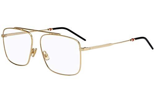 Christian Dior Homme Dior 0220 Eyeglasses 58-14-150 Gold w/Demo Clear Lens J5G Dior0220