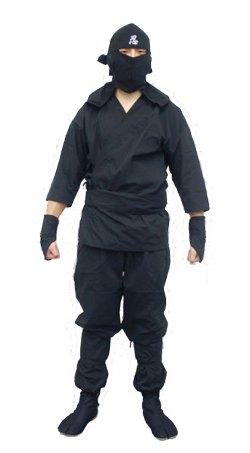 [Ninja Uniform/ Martial Art Costume for Adults! Black! L: 5' 5-5' 9ft] (Black Martial Arts Costume)