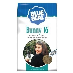 Kent Nutrition Blue Seal Bunny 16 Rabbit Pellets for Pets, Herd Bucks, and Dry Does 25 Lbs. by Blue Seal by RUFF BOYZ