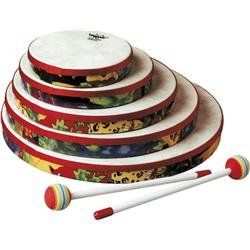 Bongo 5 String Bass - Remo Kid's Percussion 6 inch Hand Drum in Rainforest Design (Age 5+)
