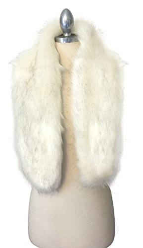 Ivory Coat Rack (Winter Faux Fur Scarf Wrap Collar Shawl Shrug (Regular Size, SC08 Ivory))