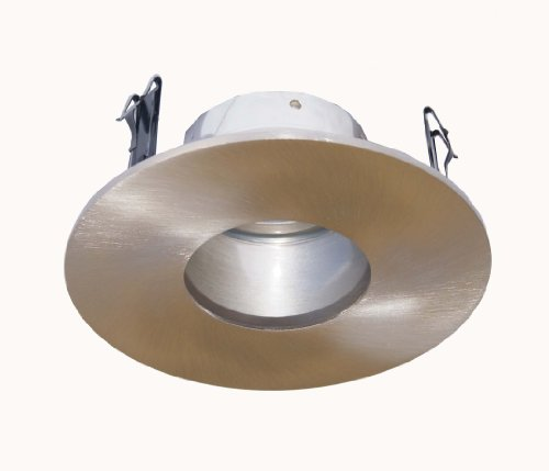 4 Inches Adjustable Pinhole Trim/Trims for Low Voltage Recessed Light/lighting-Satin Nickel Fit Halo/Juno