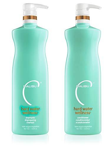 Malibu C Hard Water Wellness Shampoo Conditioner Liter Duo