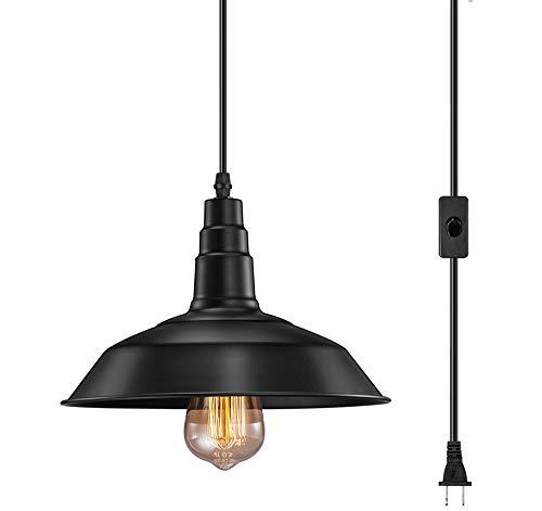 noir 1lumières SXMY Rétro en Fer forgé Lustre LED Suspension Lampe Plafond intérieur luminaire lumières décoratives pour Salon chambre-noir-1lumières
