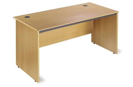 wood office desk. Maestro Straight Wooden Office Desk With Panel End Legs 1228mm In Oak Wood L