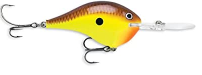 Rapala Dives-to 06 Fishing Lure 2-inch Chartreuse Brown from Rapala