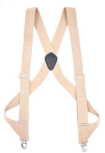 (MENDENG Trucker Side Clip Suspenders X-back 1 1/2