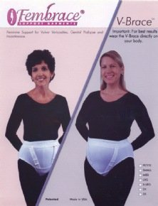 V-Brace Feminine Support for Vulvar Varicosities and Genital Prolapse (2X Large) by Fembrace Support Garments