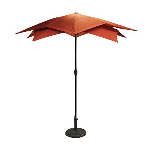 Cheap 8.2′ Outdoor Patio Lotus Umbrella with Hand Crank – Terracotta