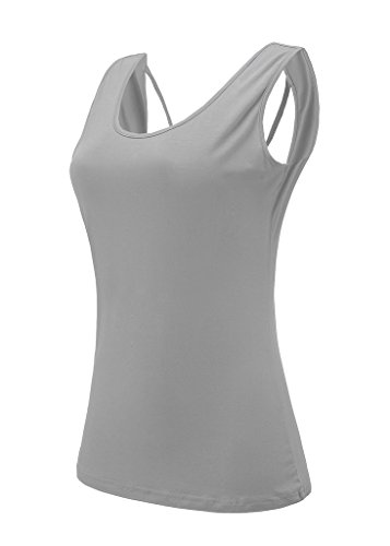 Backless Solid Cotton (Bestisun Women's Scoop Neck Bandage Open Back Casual Tank Top Teen Girls Home Wear Lace Up Solid Knit Tee (XL, Gray))