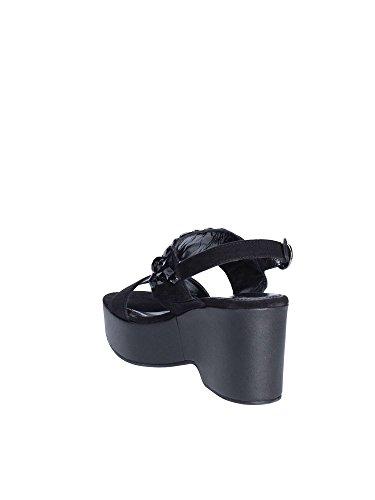 Femmes Apepazza compensées Noir FLR03 Sandales qn44WHxw