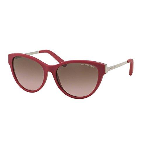 Michael Kors Punte Arenas Sunglasses MK6014 302414 Fucsia Brown Rose Gradient 57 16 - For Man Face Sunglasses Shaped Heart