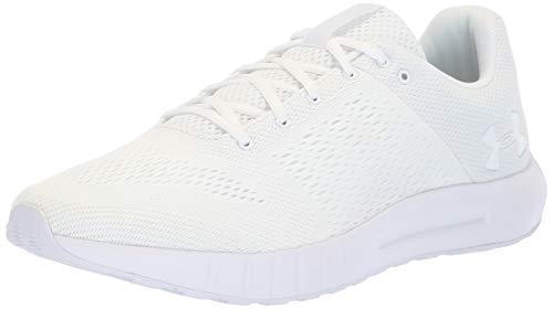 - Under Armour mens Micro G Pursuit Running Shoe, White (112)/White, 11