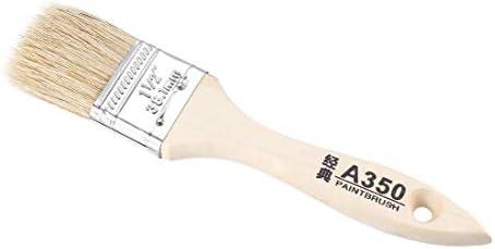 uxcell チップペイントブラシ 38mm合成剛毛木製ハンドル付き壁処理用2個