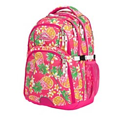 High Sierra(R) Swerve Backpack with 17'' Laptop Pocket, Flamingo/Pink Pineapple