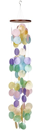 Woodstock Rainbow Capiz Waterfall Wind Chime, Décor Designs Collection