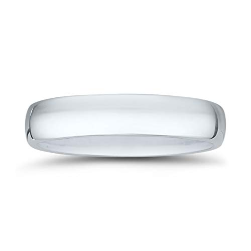 Platinum 950 Domed Wedding Band - 4mm Domed Comfort Fit Wedding Band in 950 Platinum