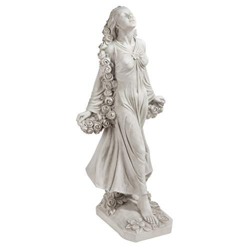 Design Toscano Flora Divine Patroness of Gardens Roman Goddess Statue, 30 Inch, Polyresin, Antique Stone